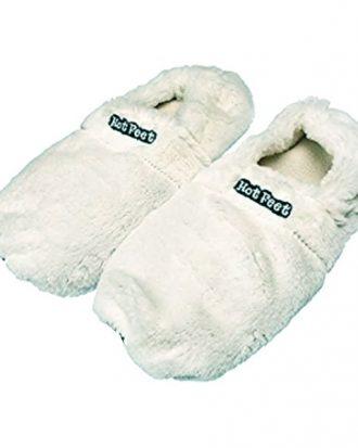 Hot Feet Värmetofflor - Vit