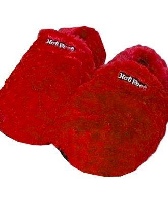 Hot Feet Värmetofflor - Röd