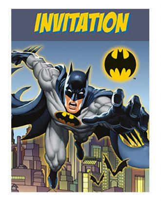 Inbjudningskort Batman Retro - 8-pack