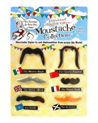 Internationellt Mustaschkit - 6-pack