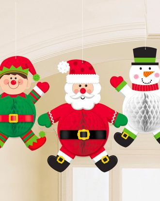 Julfigurer Honeycomb Hängande Dekoration