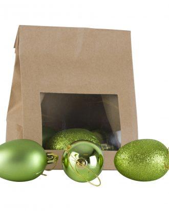 Julgranshänge Ägg Grön - 6-pack