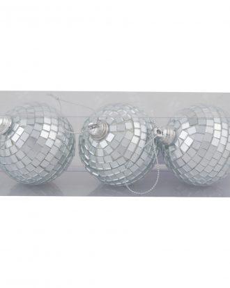 Julgranskulor Discoboll - 3-pack
