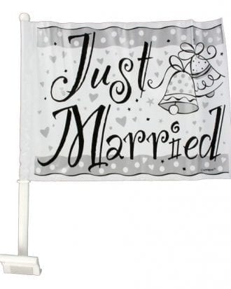 Just Married Bilflagga