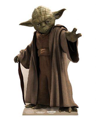 Kartongfigur Yoda Mini