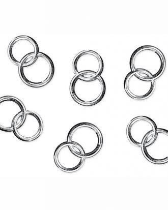 Konfetti Dubbla Ringar Silver - 25-pack