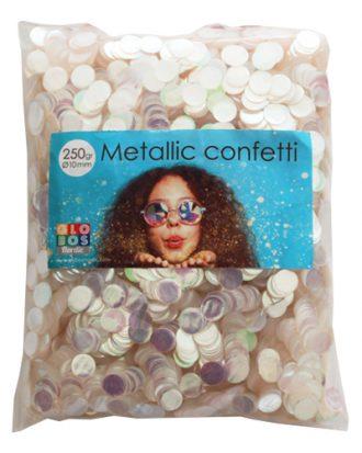 Konfetti Färgskimrande Metallic Runda - 250 g