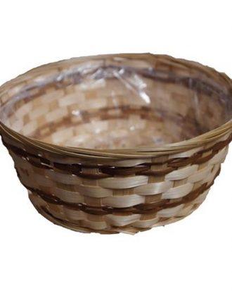 Korg i Bambu Rund - 26 cm