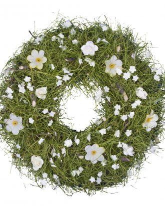 Krans med Blommor - 23 cm