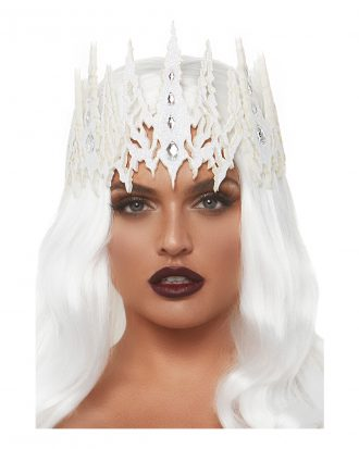 Krona Vit Glittrig Deluxe - One size