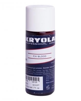 Kryolan F/X Blod - 50 ml Mörkröd