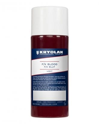 Kryolan F/X Blod - 250 ml Klarröd