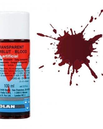 Kryolan Transparent Blod - 100 ml Mörk
