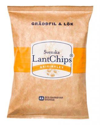 Lantchips Gräddfil & Lök