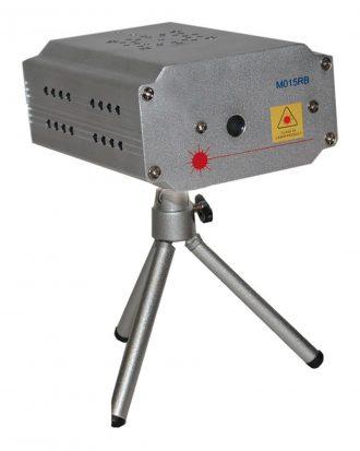 Laserlampa Mini Blinkande Röd/Blå