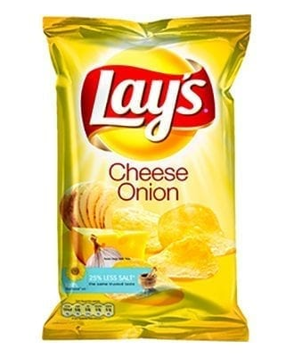 Lay's Cheese & Onion Chips - 175 gram