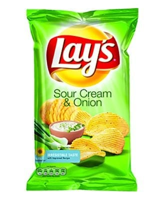 Lay's Sourcream & Onion Chips - 175 gram