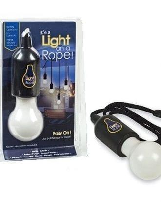 LED Lampa på Rep - Vit