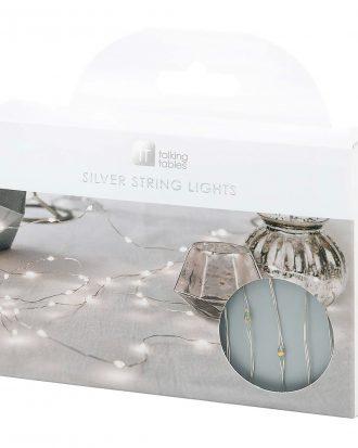 LED-Slinga Silver/Vit