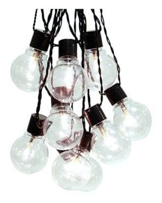 Ljusslinga Party Klara Lampor LED - Svart kabel