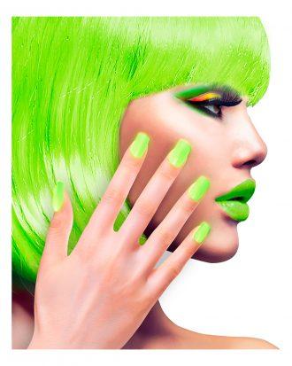 Lösnaglar Neongrön