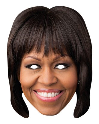 Pappmask  Michelle Obama
