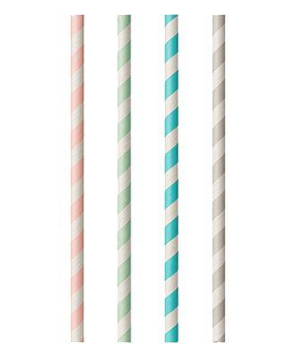 Milkshakesugrör av Papper Flerfärgade Randiga - 100-pack
