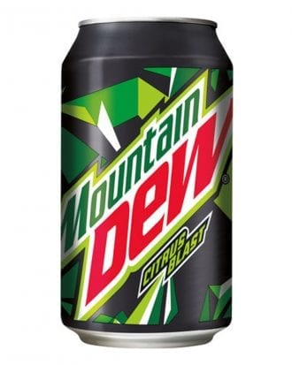 Mountain Dew - 24-pack (Hel platta)