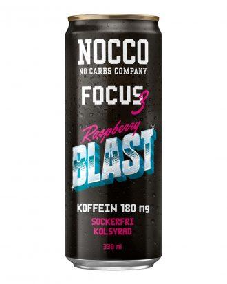 Nocco Focus 3 Raspberry Blast - 24-pack (hel platta)