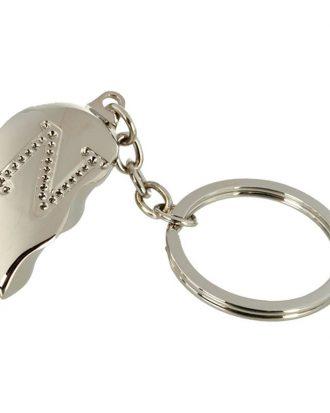Nyckelring Halvt Hjärta med Bokstav - Bokstav N