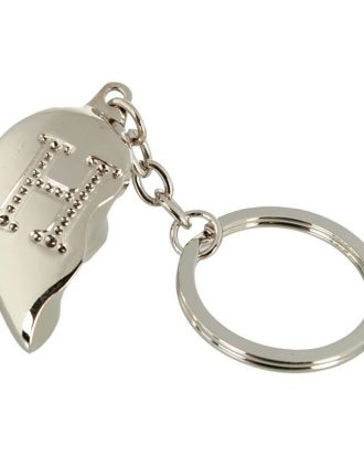Nyckelring Halvt Hjärta med Bokstav - Bokstav H