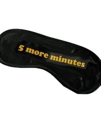 Ögonmask med Text - 5 more minutes