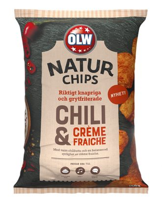 OLW Naturchips Chili & Créme Fraiche - 150 gram
