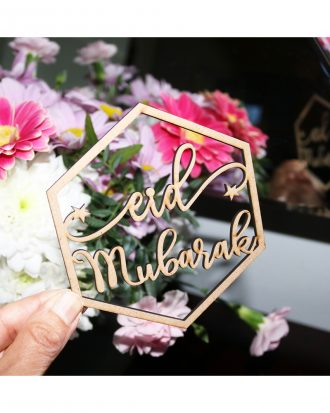 Dekorationsskyltar Eid Mubarak - 4-pack