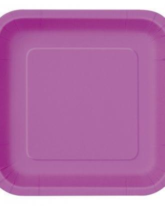 Pappersassietter Kvadrat Lila - 16-pack