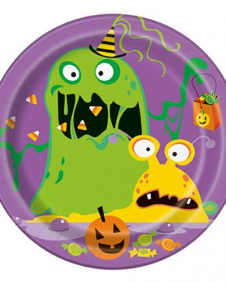 Pappersassietter Halloweenmonster - 8-pack