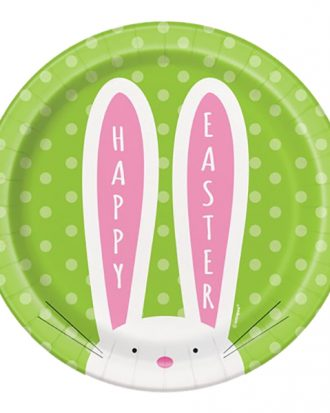 Pappersassietter Happy Easter Kanin - 8-pack