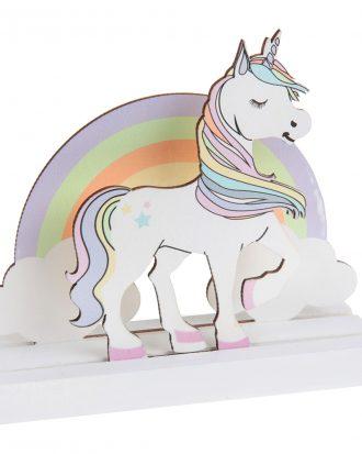 Dekoration i Trä Unicorn - 1-pack