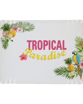 Pappersfat Tropical - 5-pack