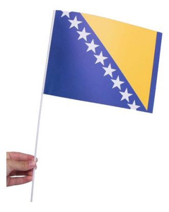 Pappersflagga Bosnien Hercegovina - 1-pack