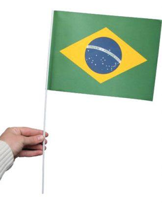 Pappersflagga Brasilien - 1-pack
