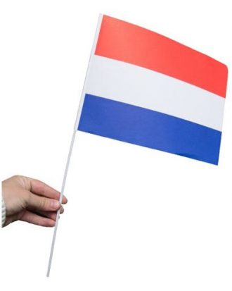 Pappersflagga Nederländerna - 1-pack