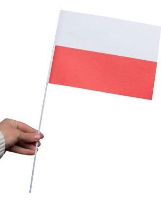 Pappersflagga Polen - 1-pack