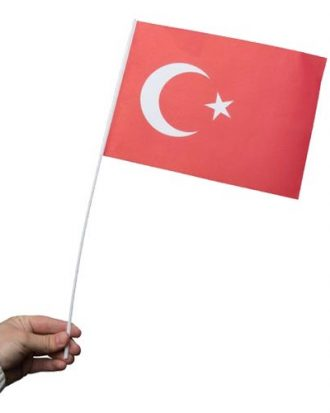 Pappersflagga Turkiet - 1-pack