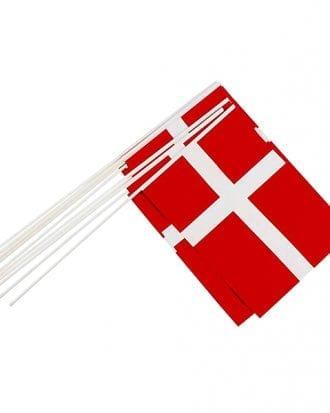 Pappersflaggor Danmark - 10-pack