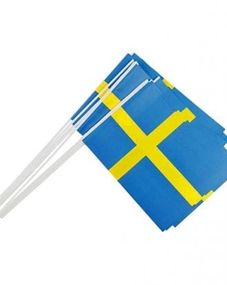 Pappersflaggor Sverige - 10-pack