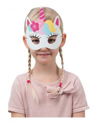 Pappersmasker Enhörning - 6-pack