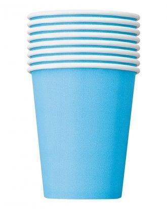 Pappersmuggar Ljusblå - 8-pack