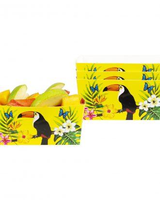 Pappersskålar Tucan - 4-pack