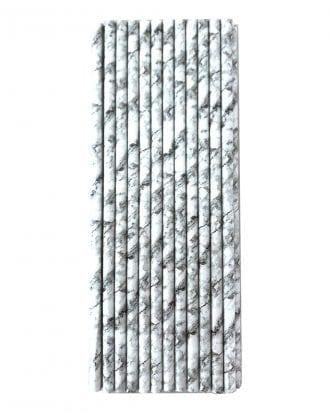 Papperssugrör Marmor - 24-pack